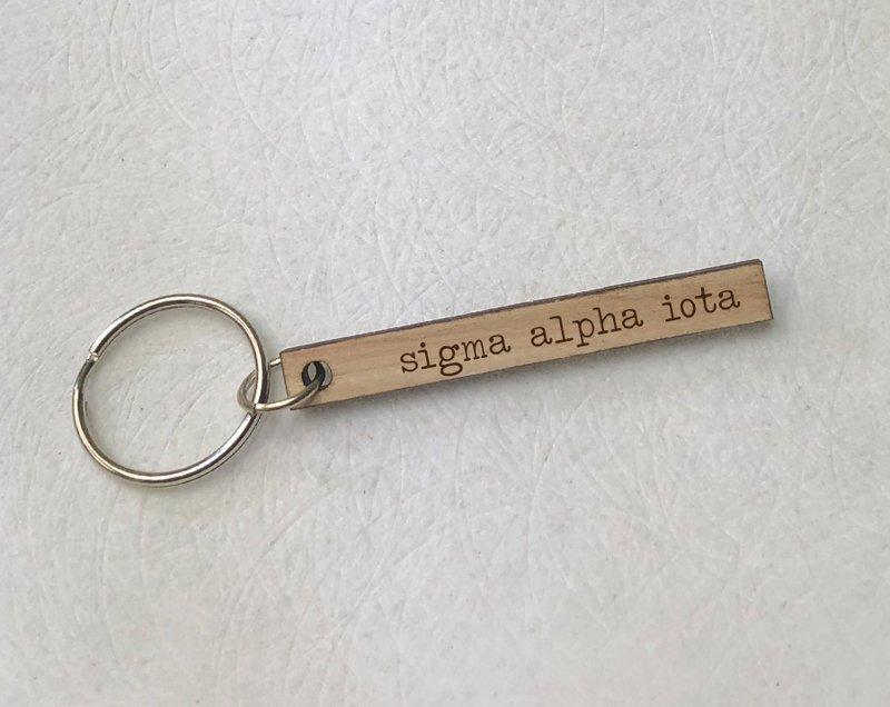 Sigma Alpha Iota Skinny Keychain