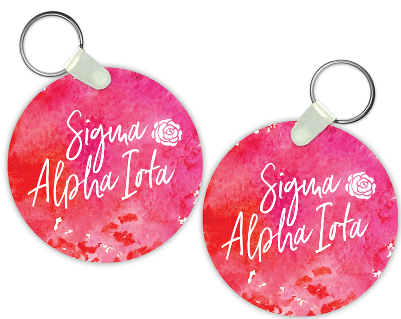 Sigma Alpha Iota Watercolor Motto Keychain