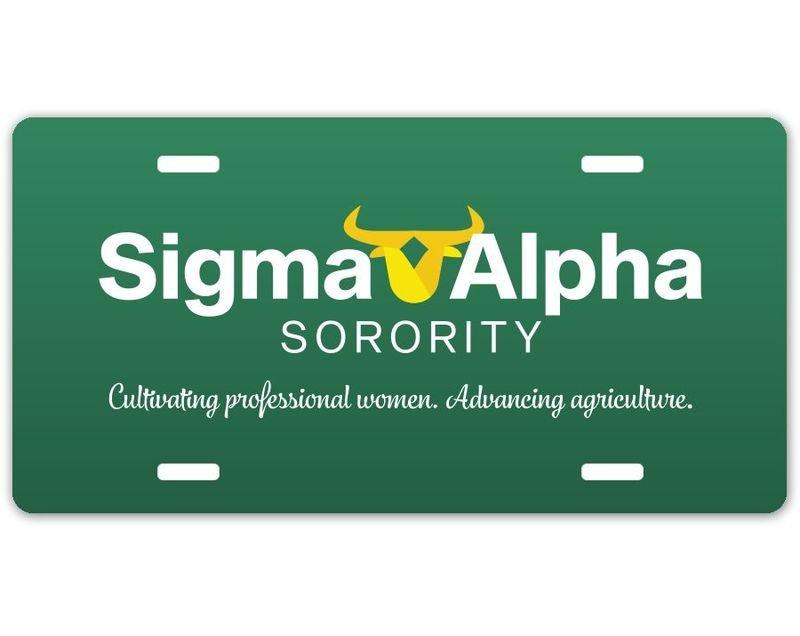 Sigma Alpha Logo License Plate