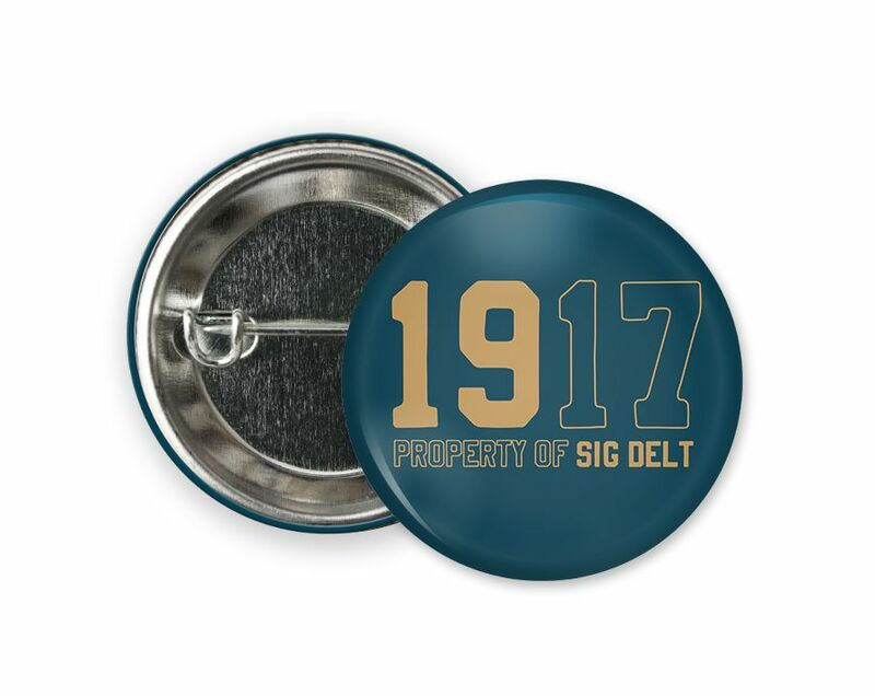 Sigma Delta Tau Year Button