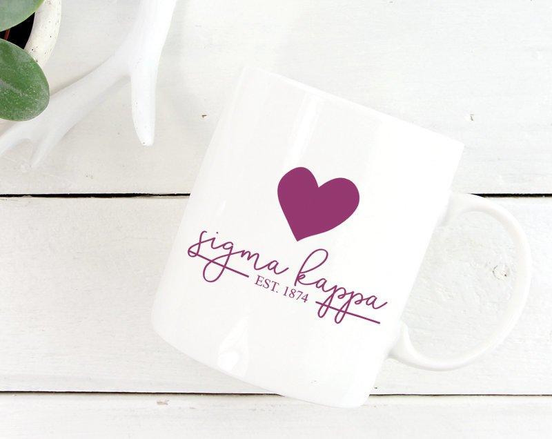 Sigma Kappa Established Coffee Mug