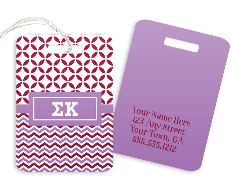 Sigma Kappa Geometric Luggage Tag