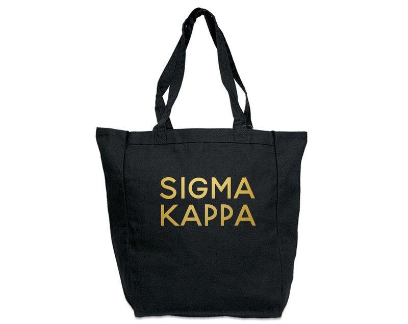 Sigma Kappa Gold Foil Tote bag