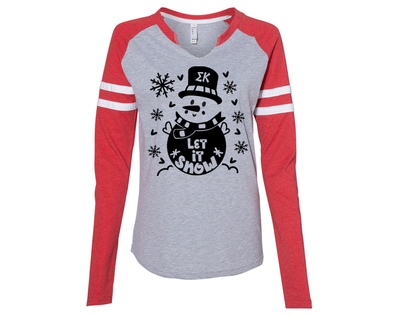 Sigma Kappa Let It Snow Long Sleeve Jersey