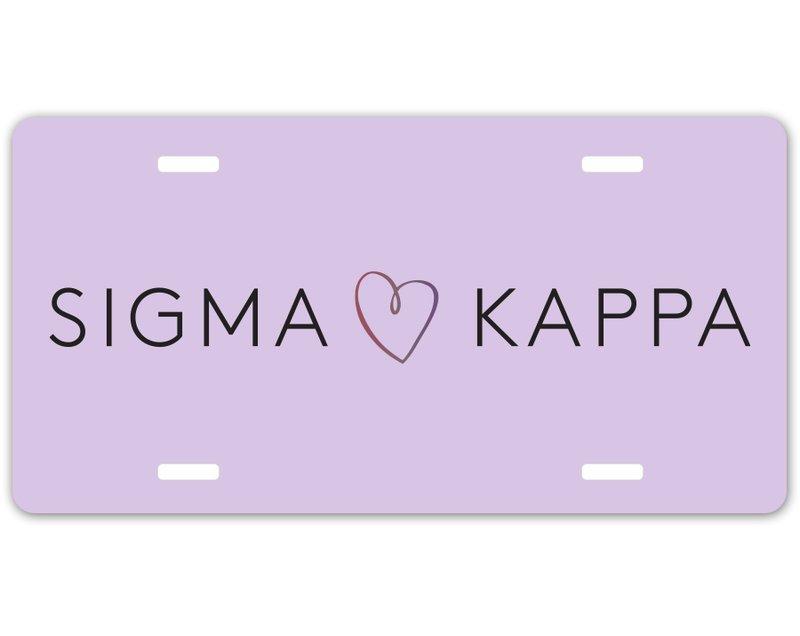 Sigma Kappa Sorority Logo License Cover