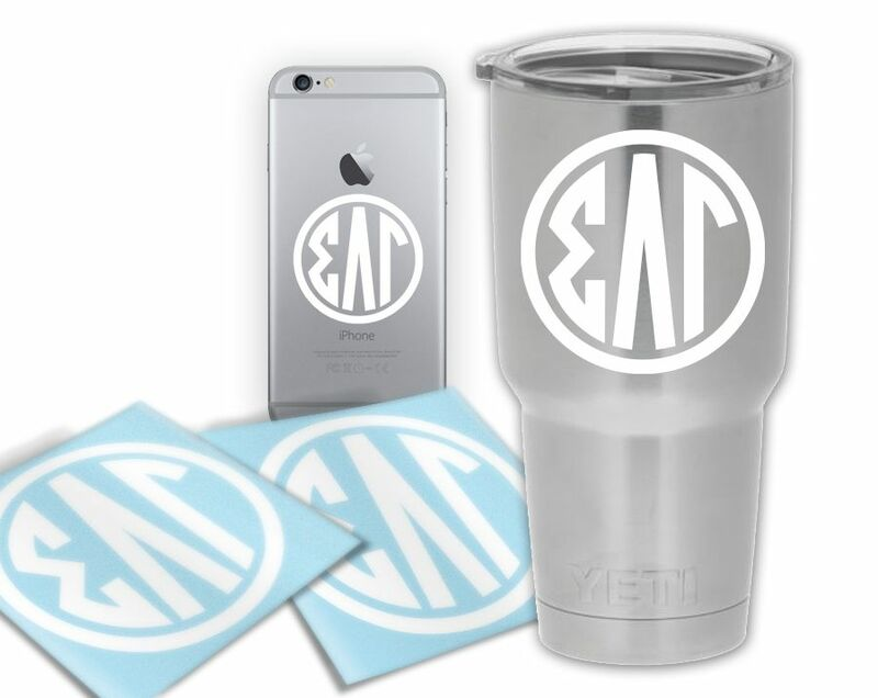 Sigma Lambda Gamma Circle Decal