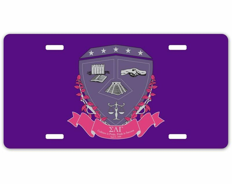 Sigma Lambda Gamma Crest - Shield License Plate