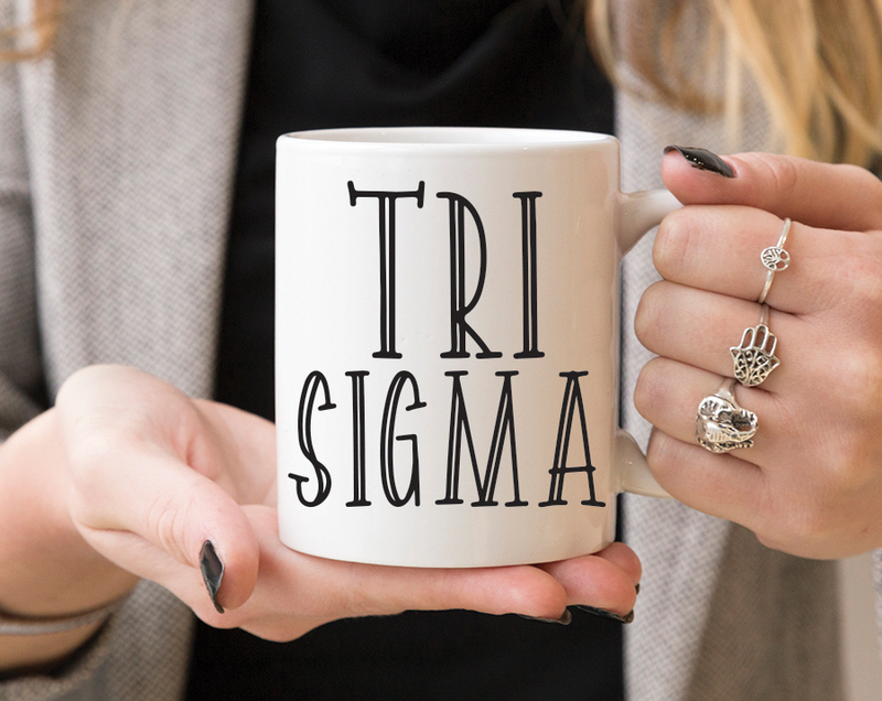 Sigma Sigma Sigma Inline Coffee Mug