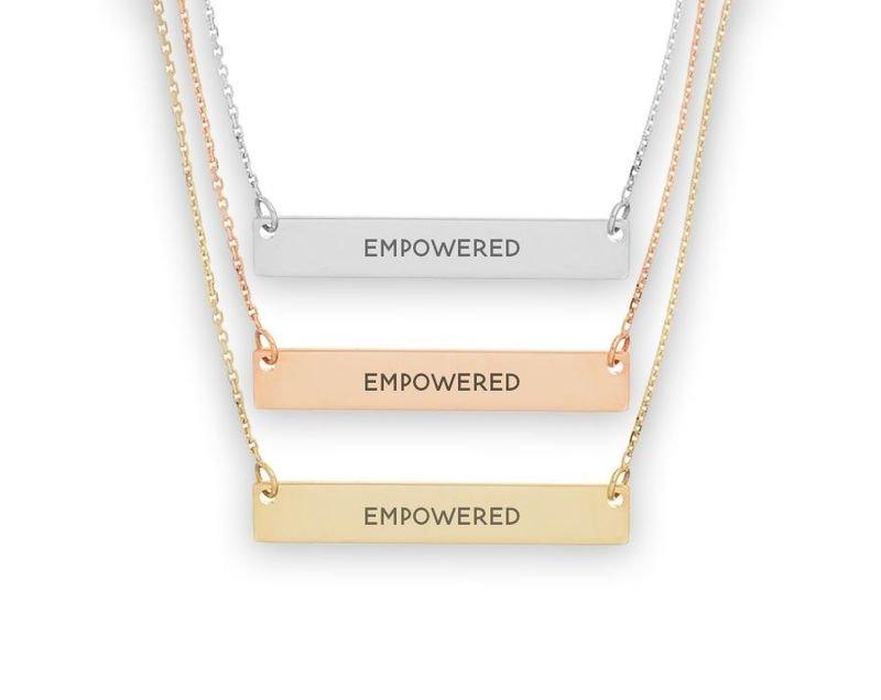 Sigma Sigma Sigma Motto Bar Necklace