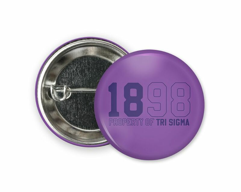 Sigma Sigma Sigma Year Button