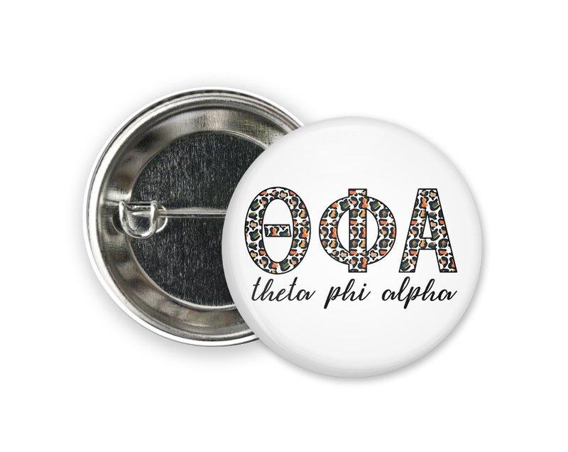 Theta Phi Alpha Leopard Button