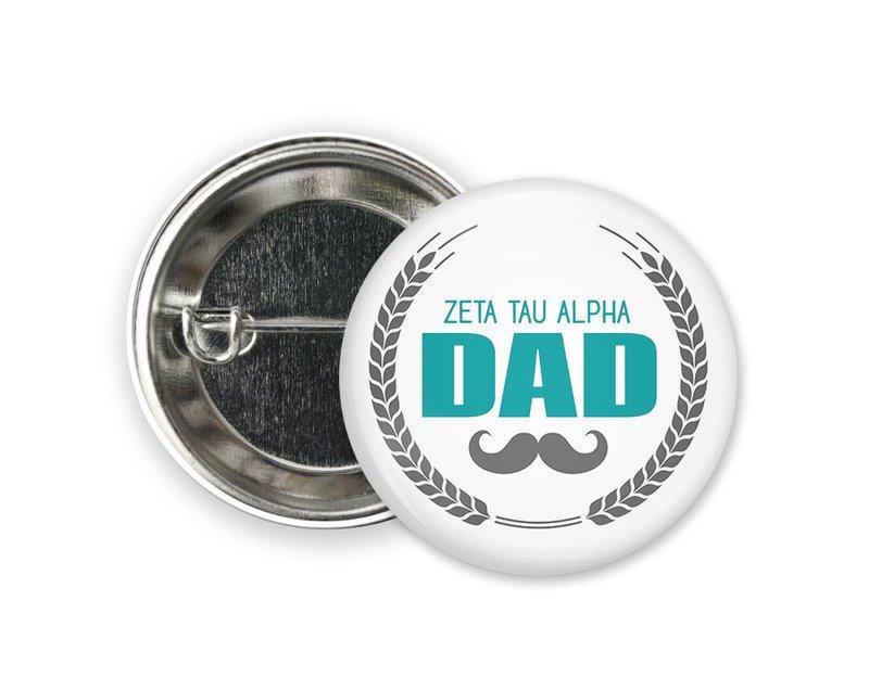 Zeta Tau Alpha Dadstache Button