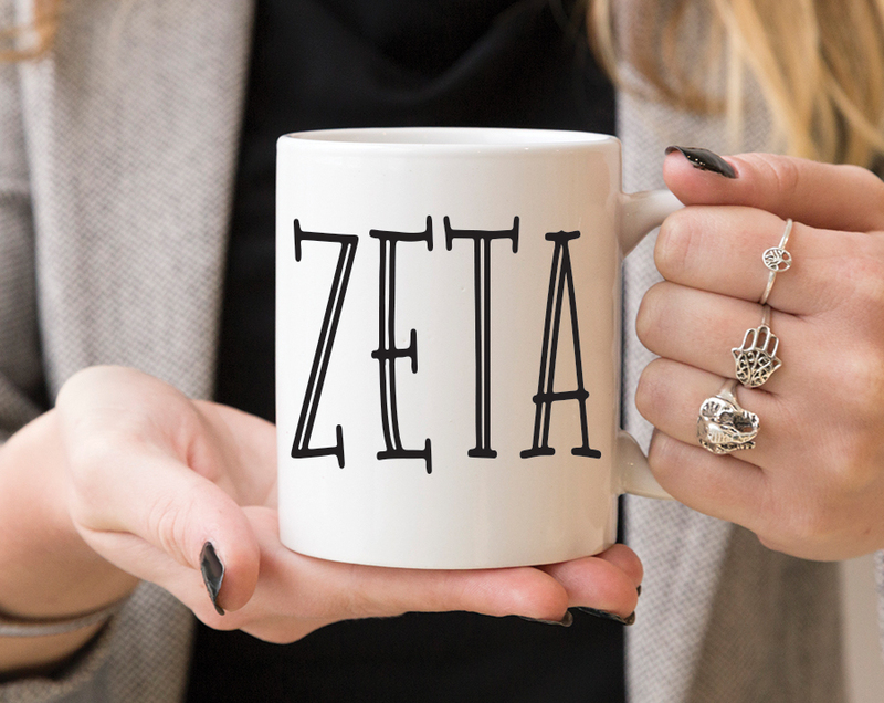 Zeta Tau Alpha Inline Coffee Mug