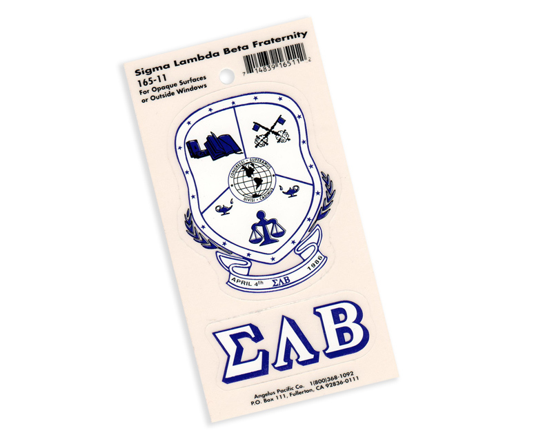 Sigma Lambda Beta Crest - Shield Decal