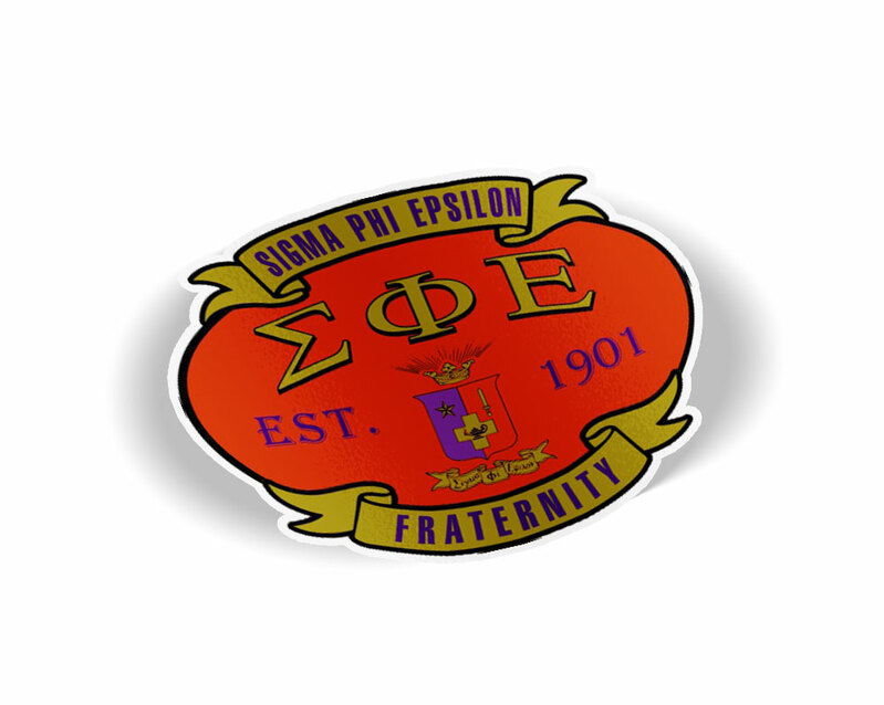 Sigma Phi Epsilon Banner Crest - Shield Decal