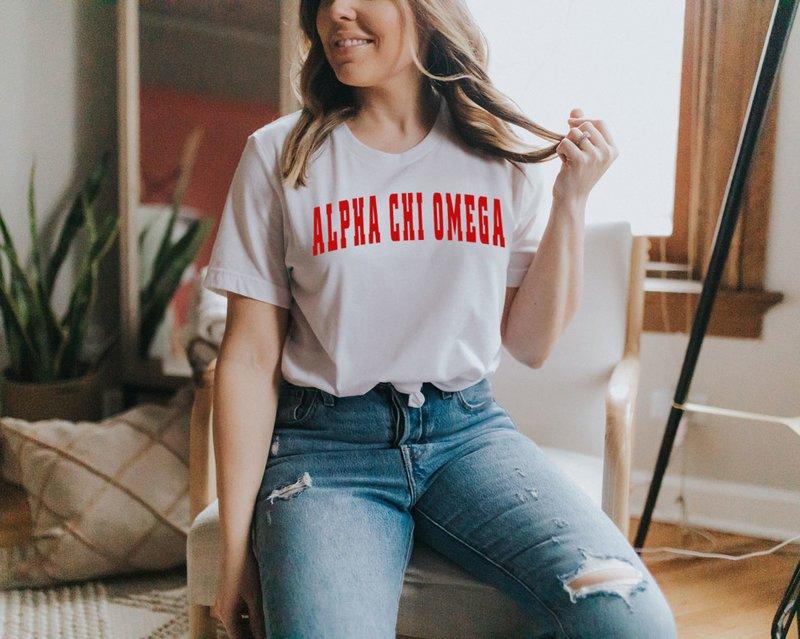 Alpha Chi Omega Letterman T-Shirts