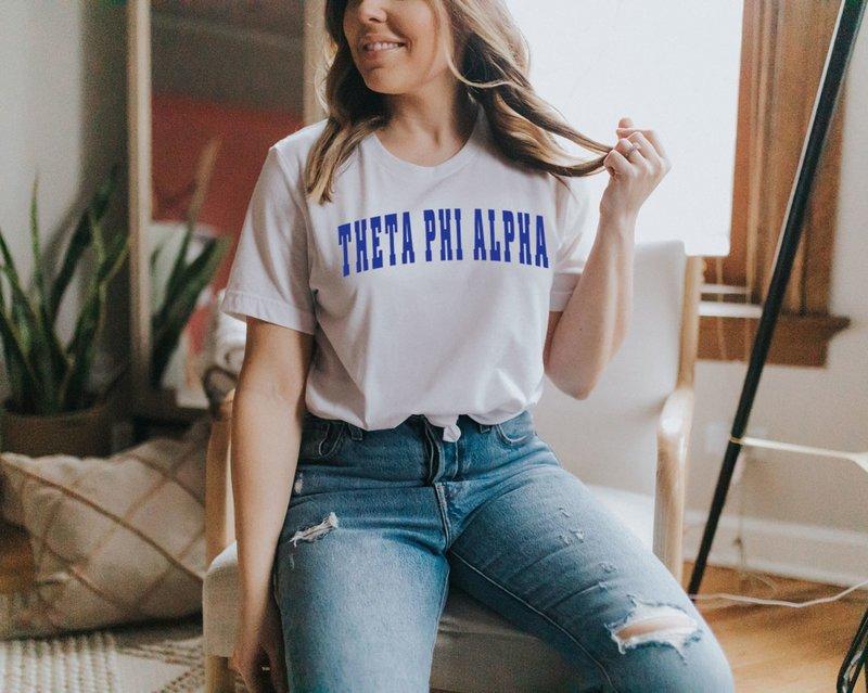 Theta Phi Alpha Letterman T-Shirts
