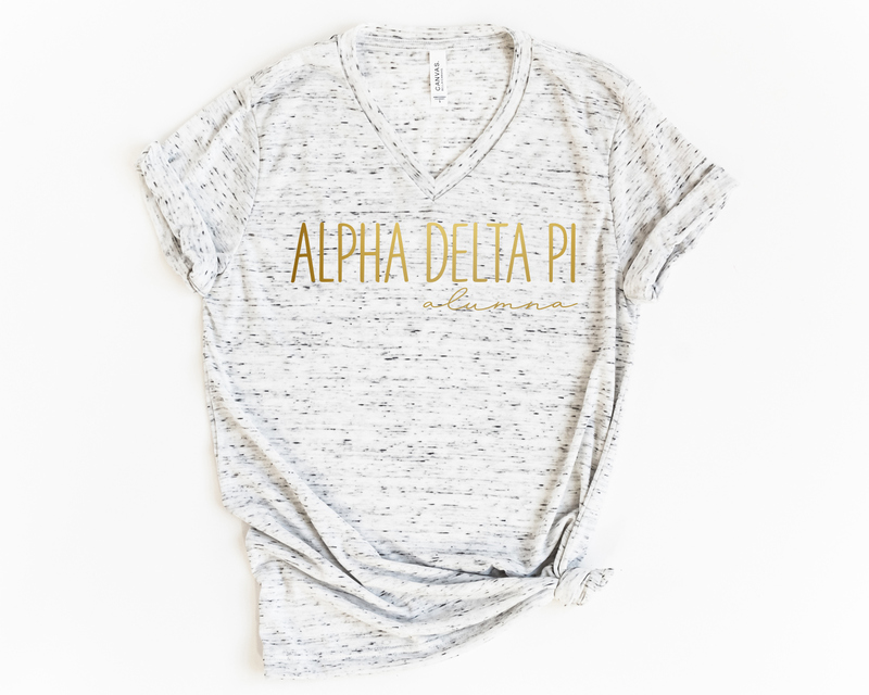 Alpha Delta Pi Alumna Vneck Tee