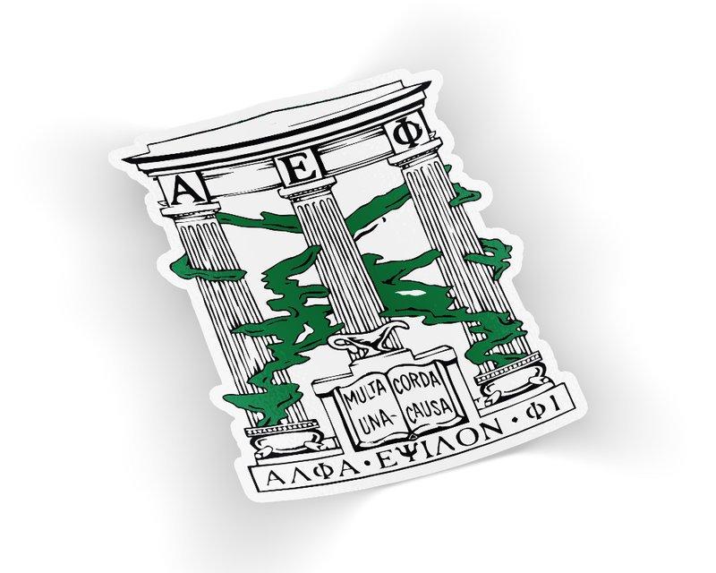 Alpha Epsilon Phi Die Cut Crest Sticker
