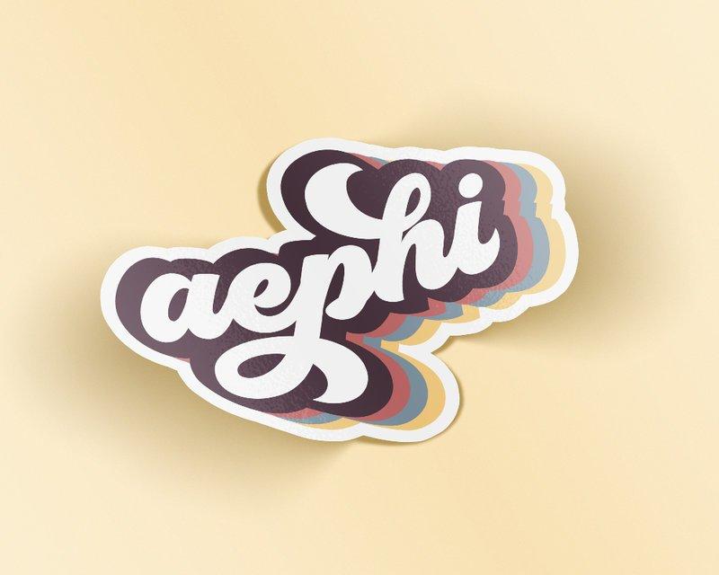 Alpha Epsilon Phi Retro Sticker