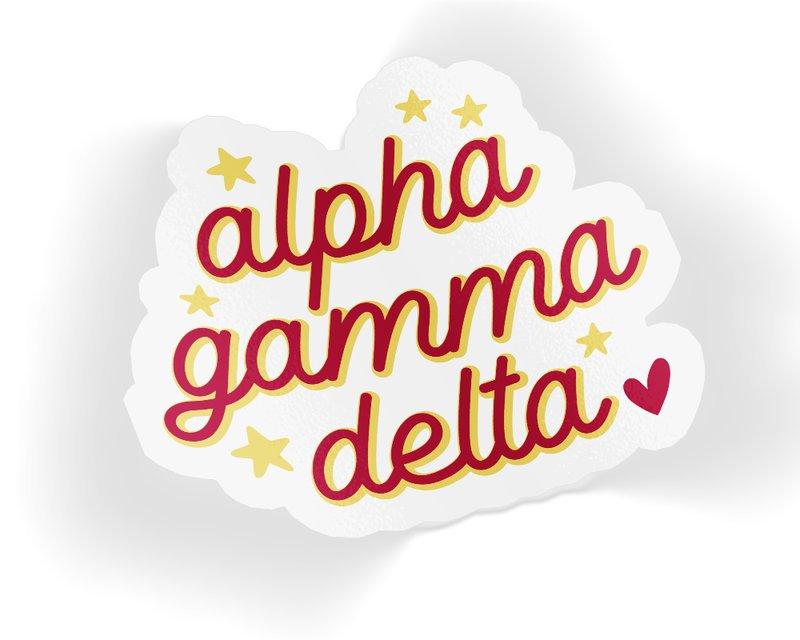 Alpha Gamma Delta Star Sticker