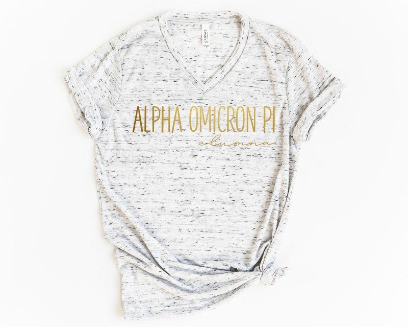 Alpha Omicron Pi Alumna Vneck Tee
