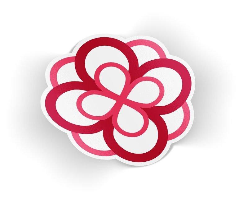 Alpha Omicron Pi Die Cut Rose Sticker