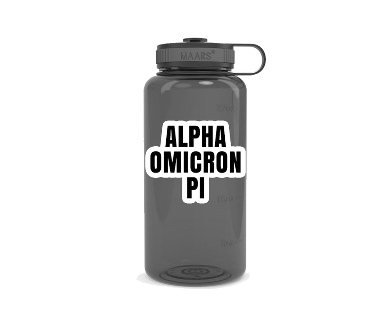 Alpha Omicron Pi Simple Wide Mouth Water Bottle