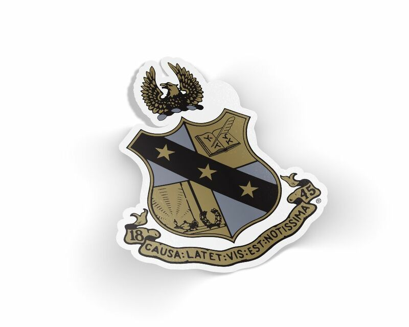 Alpha Sigma Phi Die Cut Crest Sticker