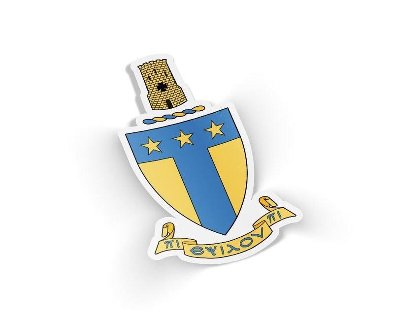 Alpha Tau Omega Die Cut Crest Sticker