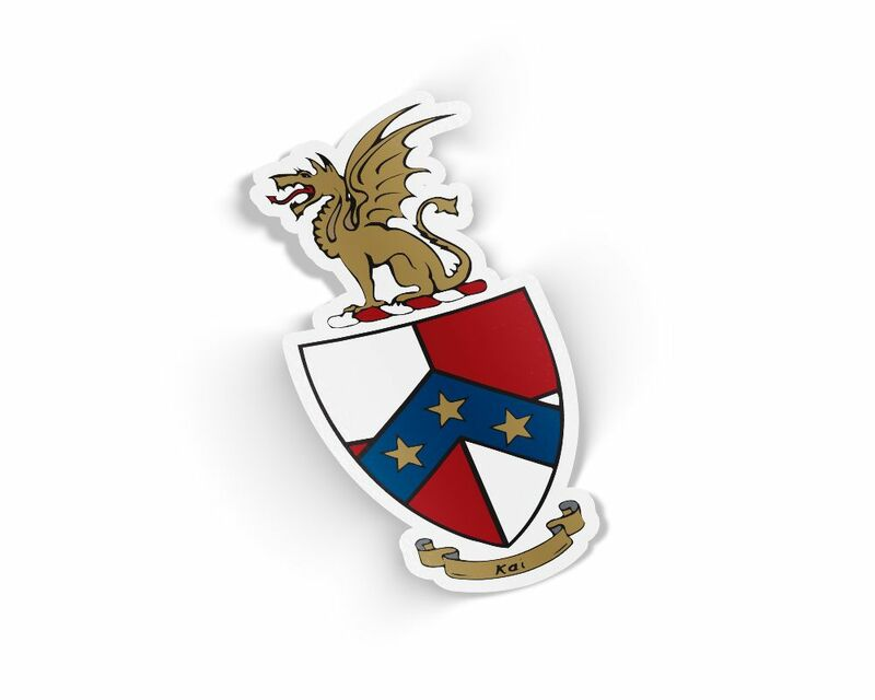Beta Theta Pi Die Cut Crest Sticker