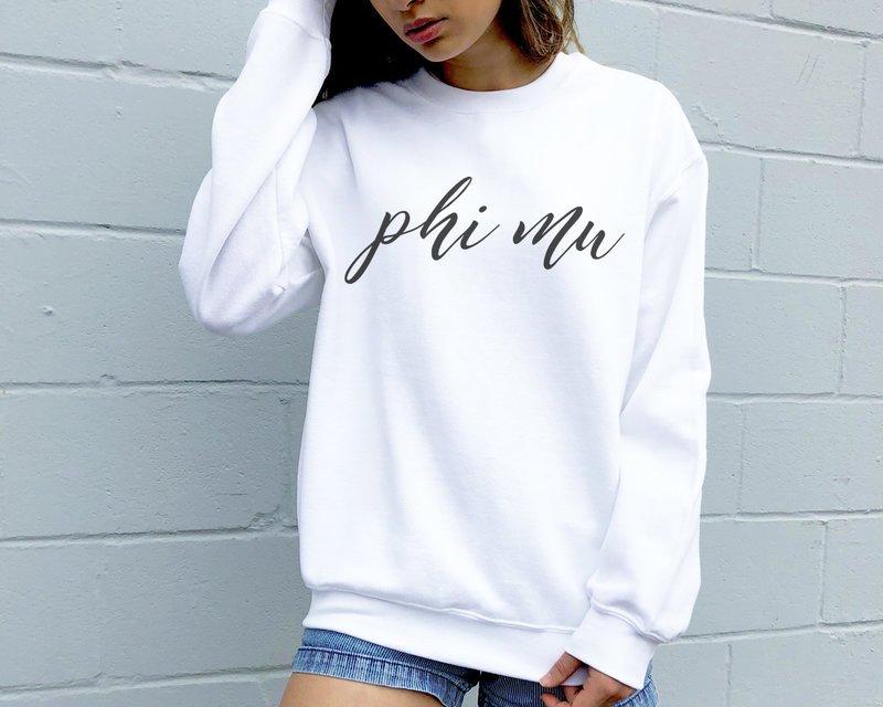 Phi Mu Script Sweatshirt