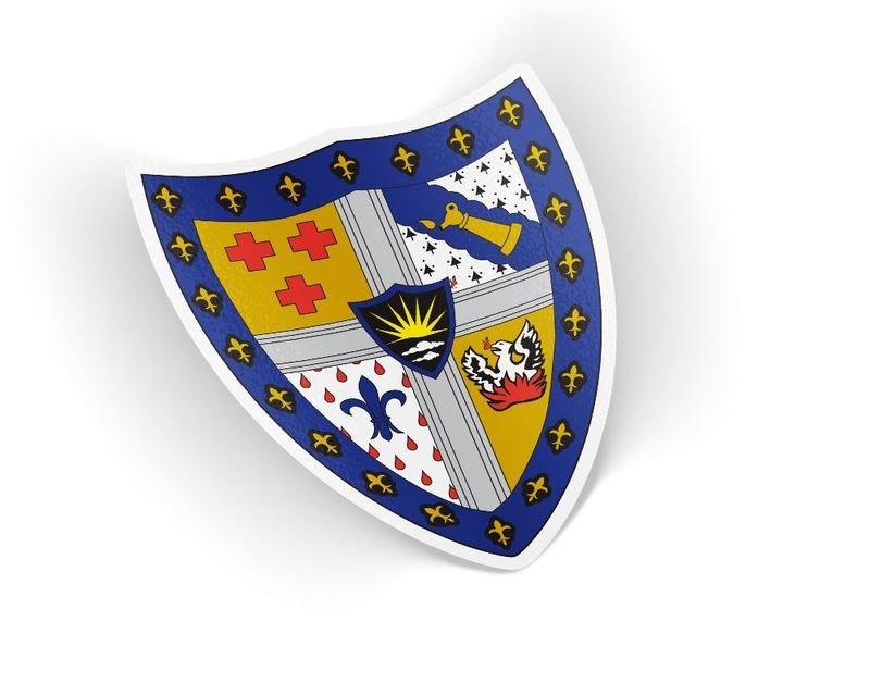 Sigma Alpha Epsilon Die Cut Crest Sticker