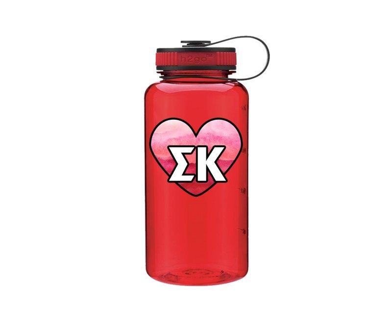 Sigma Kappa Heart Wide Mouth Water Bottle