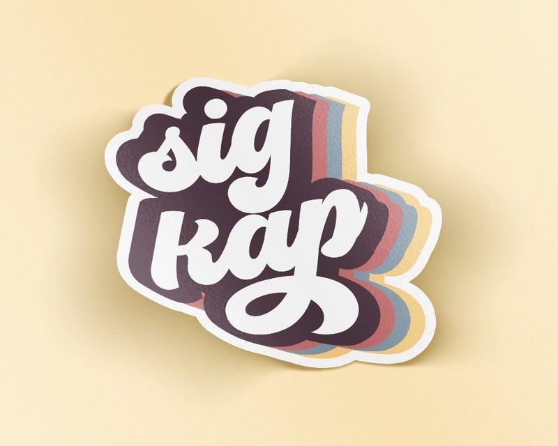 Sigma Kappa Retro Sticker