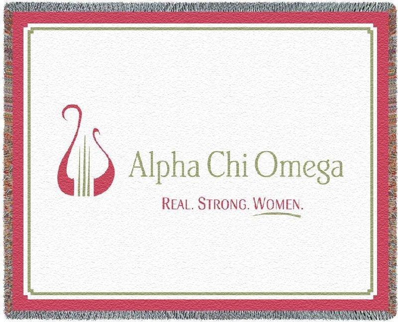 Alpha Chi Omega Blanket Throw
