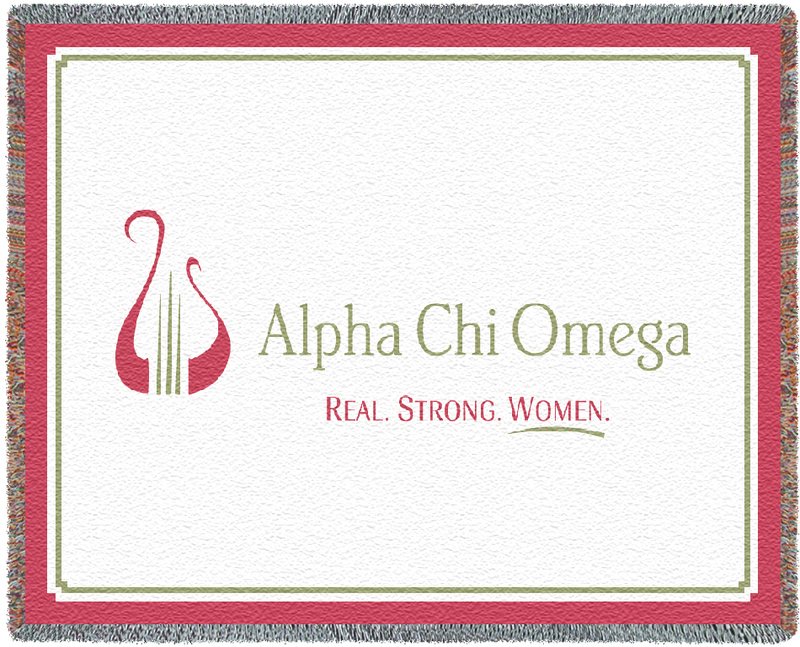 Alpha Chi Omega Blanket Throw