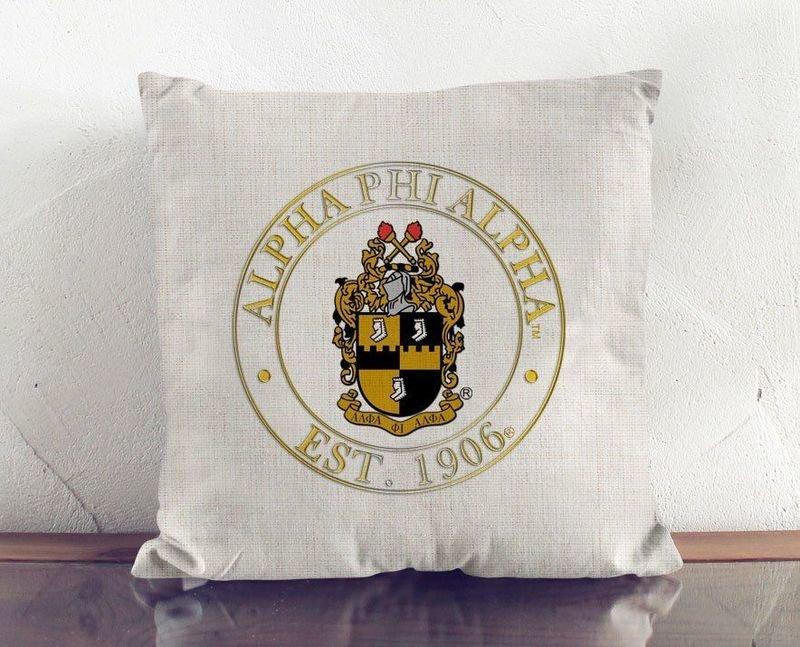 Alpha Phi Alpha Crest Linen Pillow