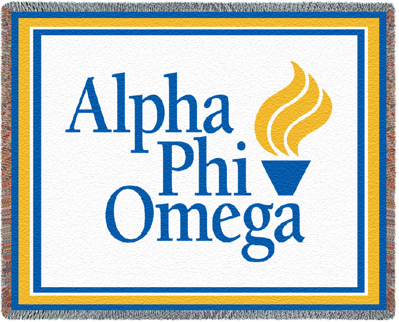 Alpha Phi Omega Blanket Throw
