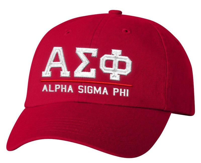 Alpha Sigma Phi Old School Greek Letter Hat
