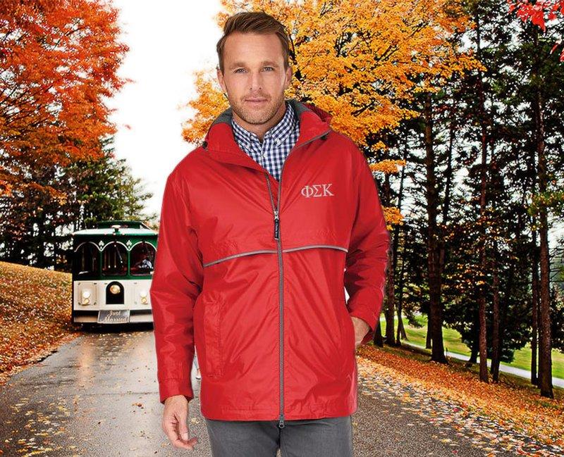 Phi Sigma Kappa Men's New Englander® Rain Jacket