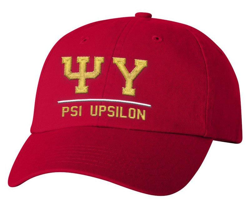 Psi Upsilon Old School Greek Letter Hat