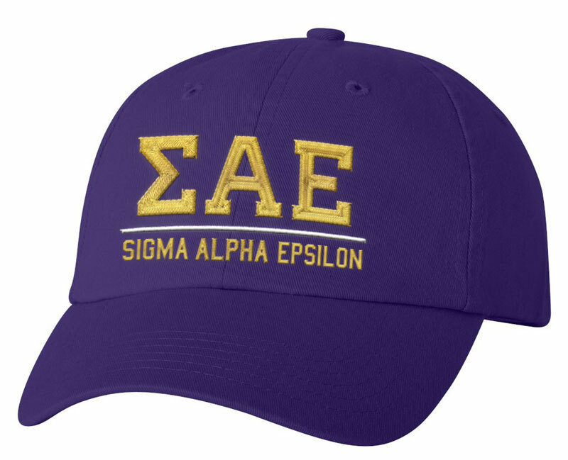 Sigma Alpha Epsilon Old School Greek Letter Hat