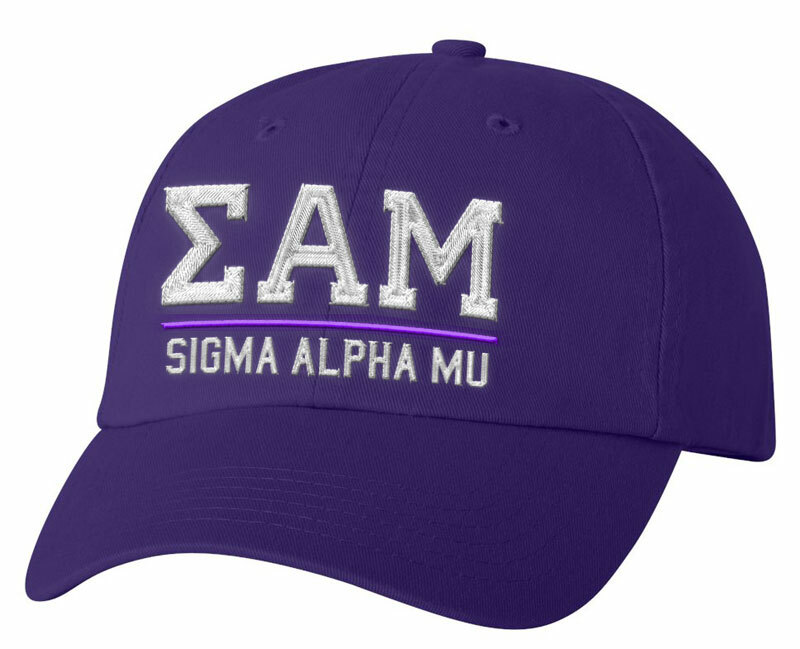 Sigma Alpha Mu Old School Greek Letter Hat