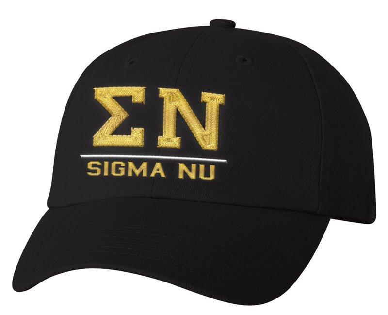 Sigma Nu Old School Greek Letter Hat