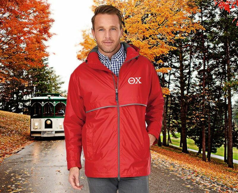 Theta Chi Men's New Englander® Rain Jacket