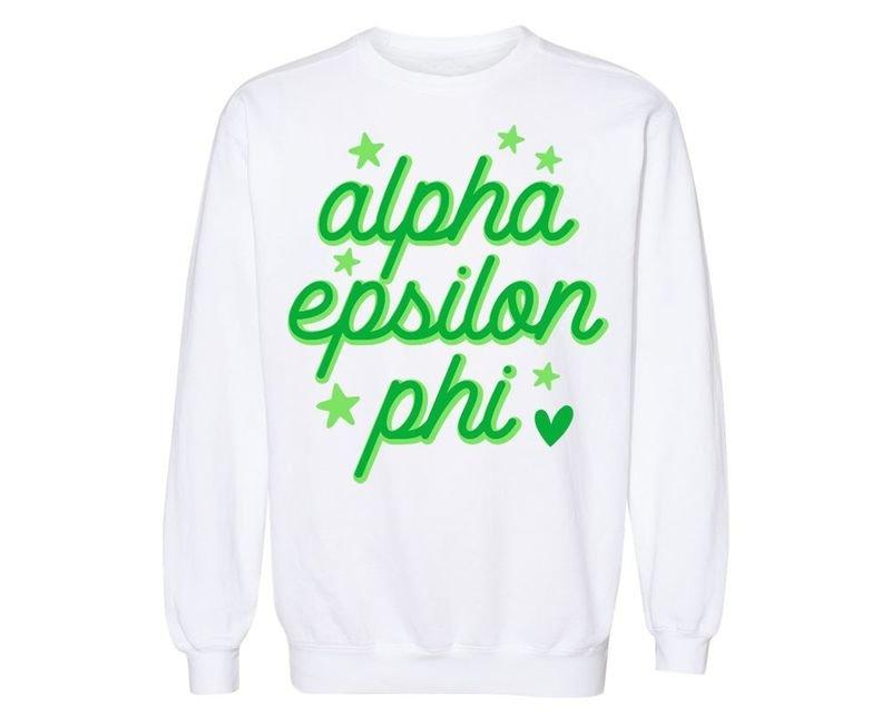 Alpha Epsilon Phi Star Sweatshirt