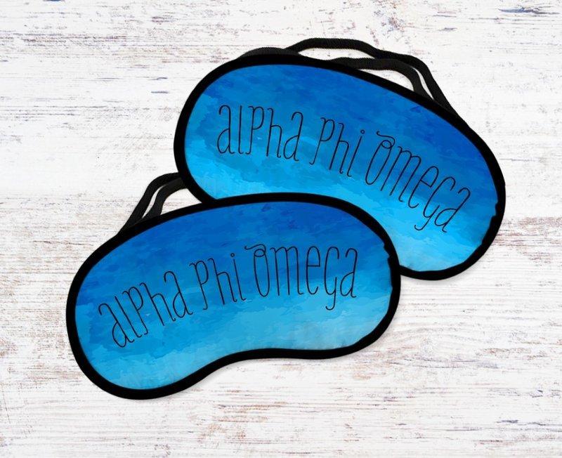 Alpha Phi Omega Watercolor Eye Mask