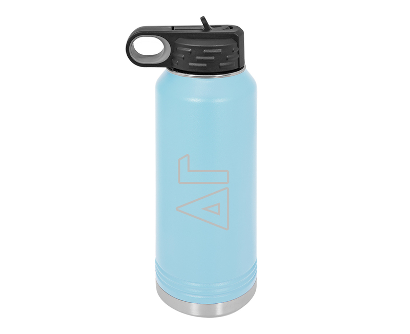 Delta Gamma Letters Stainless Water Bottle