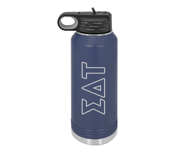 Sigma Delta Tau Letters Stainless Water Bottle